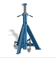 heavy duty axle stands for HGV AV 10-30 height adjustable with spindle