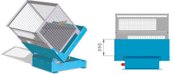 Container tilter BHN-N025 closed container tray