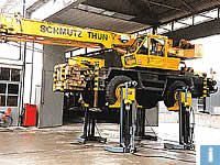 mobile column lifts for construction machinery
