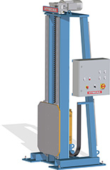 Lifting columns with linear guides