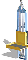 chain-driven vertical conveyor